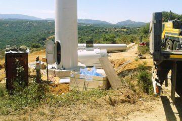 Installazione minieolico in corso nel Comune di Luras